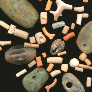 アンティーク天然石のビーズ